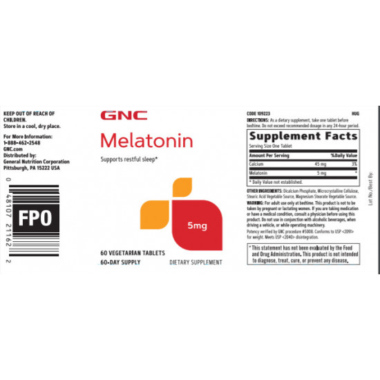 GNC MELATONIN 5 MG