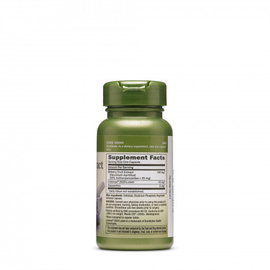 GNC Herbal Plus Bilberry Extract & Lutein 60caps