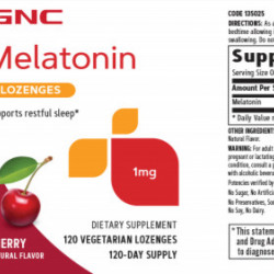 GNC MELATONIN 1 MG - CHERRY 120