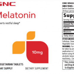 GNC MELATONIN 10MG