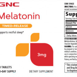 GNC MELATONIN 3 MG 60TABLETS