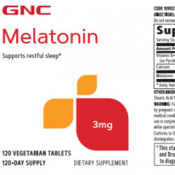 GNC MELATONIN 3 MG 120TABLETS
